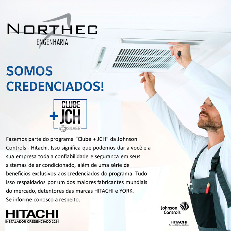 A Northec é credenciada no Clube JCH Silver da Hitachi